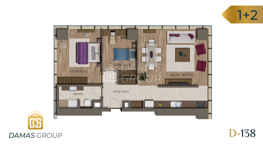 Damas Project D-138 in Istanbul - Floor Plan 03