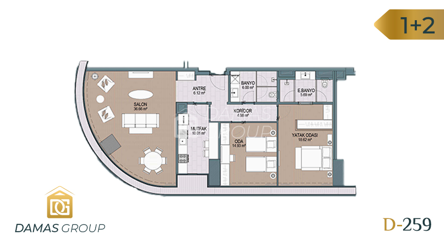 Damas Project D-259 in Istanbul - Floor Plan 03