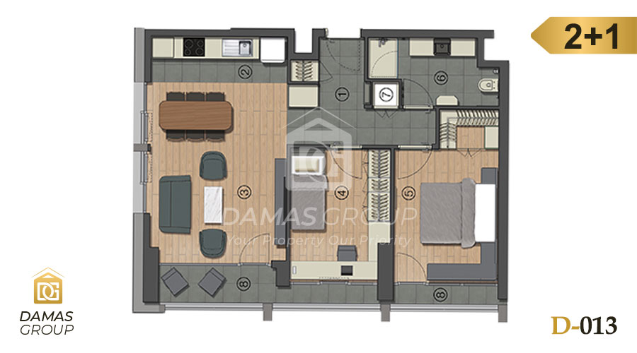 Damas Project D-013 in Istanbul - Floor Plan 03