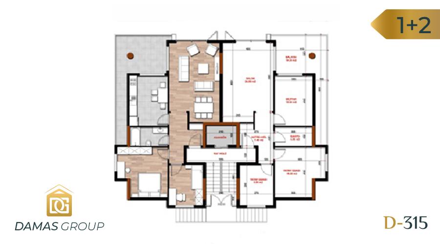 مجمع داماس 315 في بورصة  - صورة مخطط 01