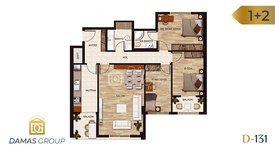 Damas Project D-131 in Istanbul - Floor Plan 01