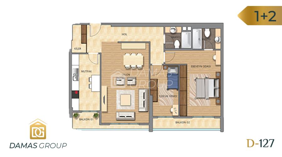 Damas Project D-127 in Istanbul - Floor Plan 02