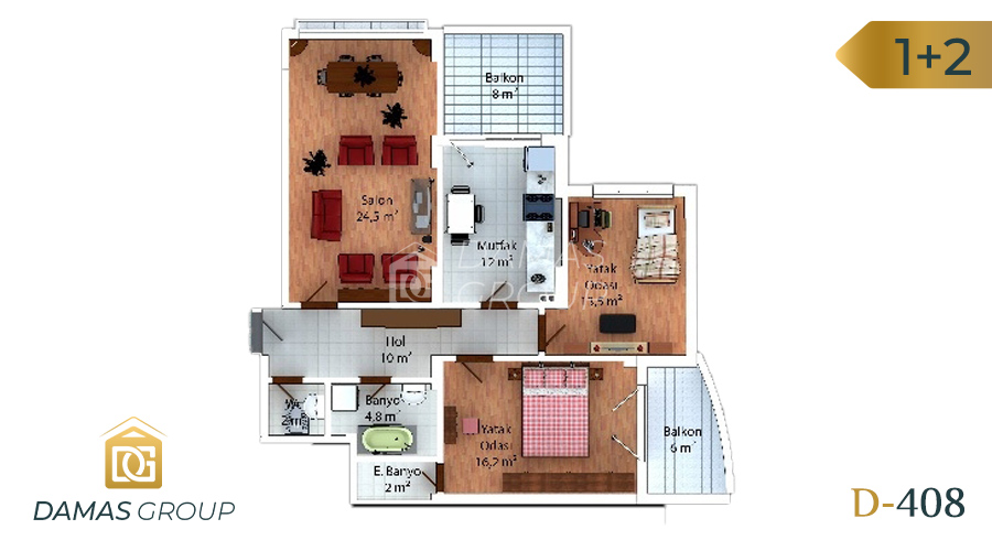 Damas Project D-408 in Trabzon - Floor Plan 02