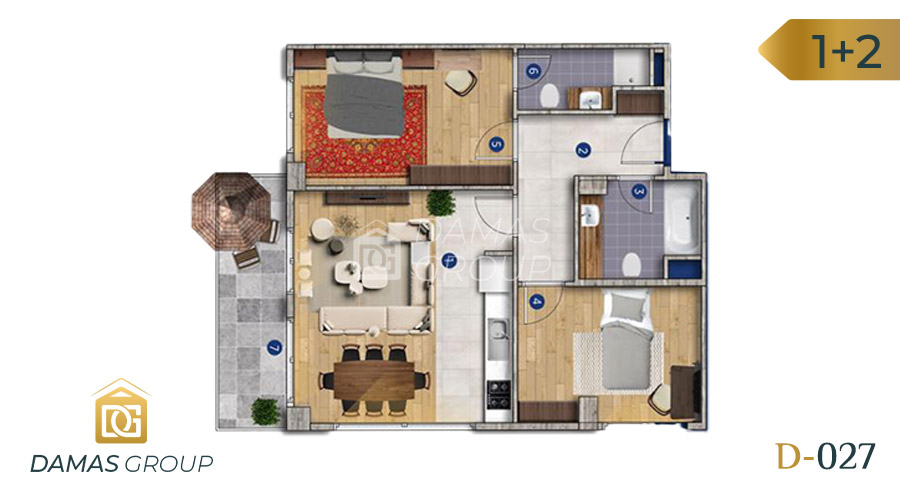 Damas Project D-027 in Istanbul - Floor Plan 03