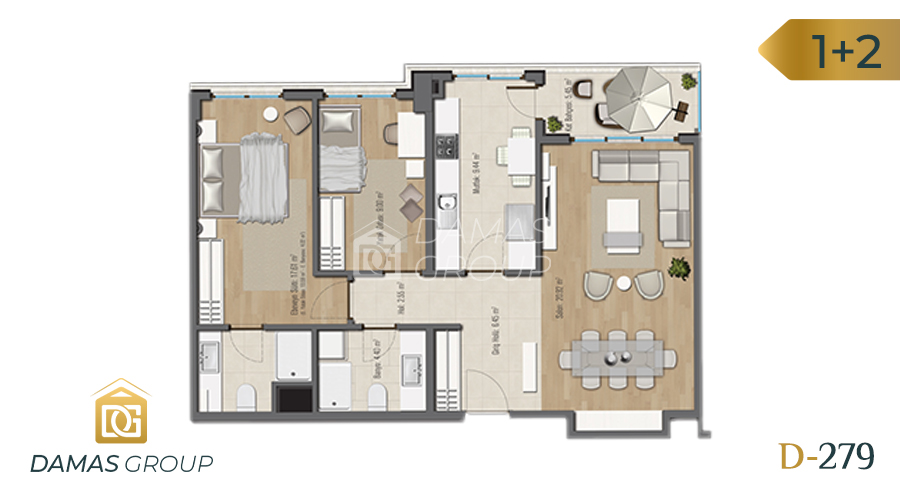 Damas Project D-279 in Istanbul - Floor Plan 03