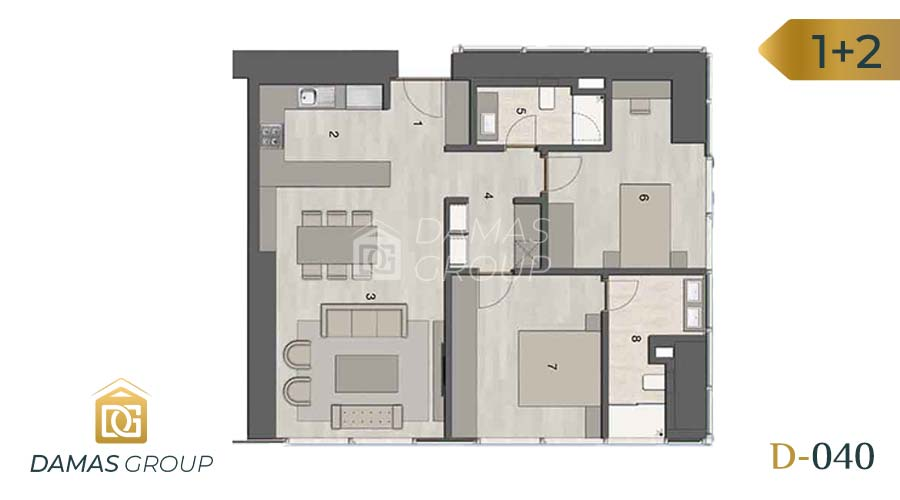 Damas Project D-040 in Istanbul - Floor Plan 02