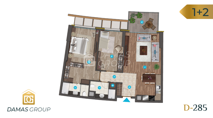 Damas Project D-285 in Istanbul - Floor Plan 01