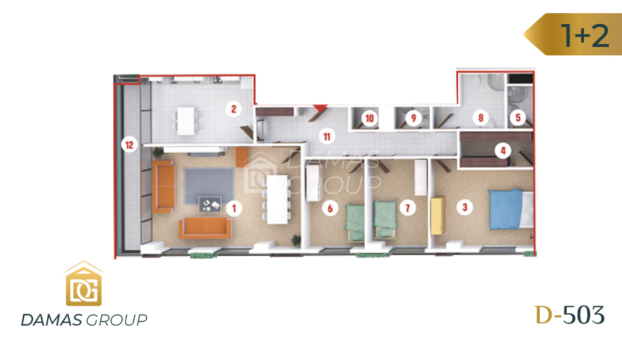 Damas Project D-503 in kocali - Floor Plan 01