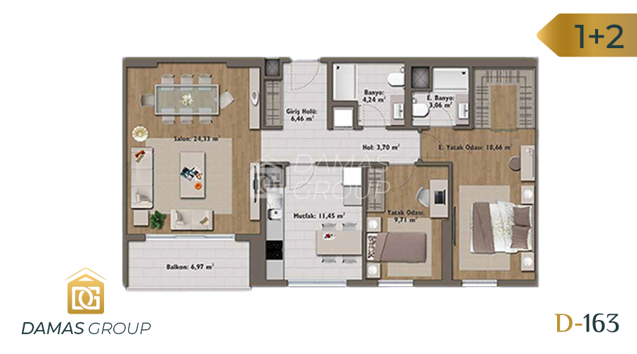 Damas Project D-163 in Istanbul - Floor Plan 03