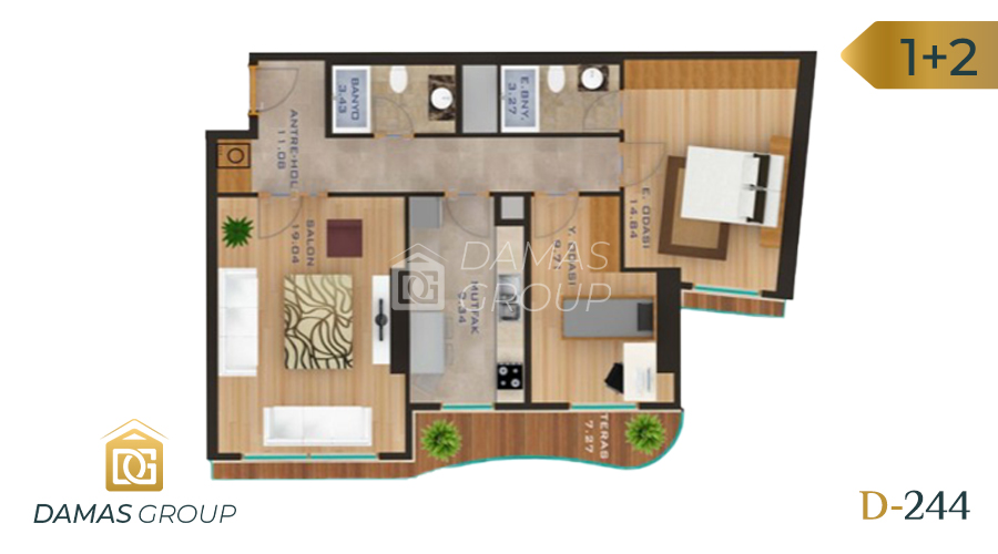 Damas Project D-244 in Istanbul - Floor Plan 02