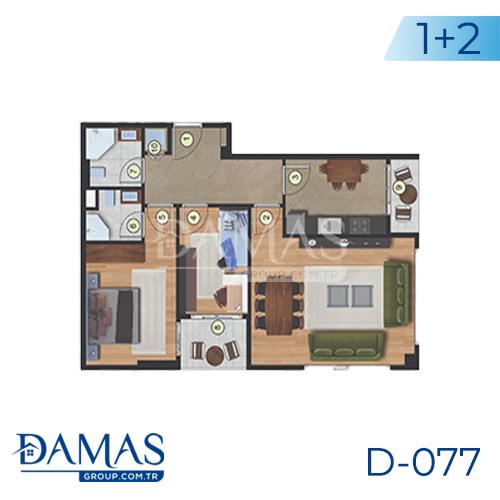 مجمع داماس 077 في اسطنبول  - صورة مخطط 01