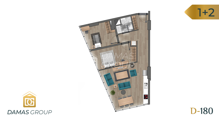 Damas Project D-180 in Istanbul - Floor Plan 02