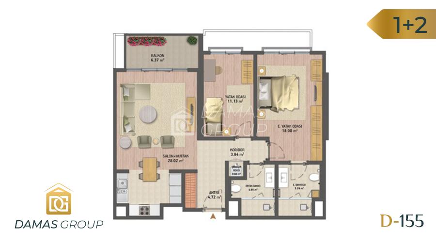 Damas Project D-155 in Istanbul - Floor Plan 02