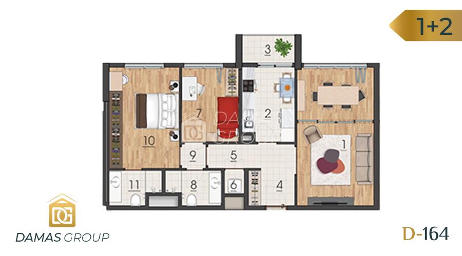 Damas Project D-1641 in Istanbul - Floor Plan 02