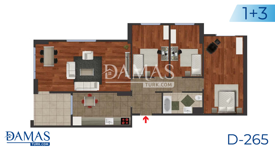 Damas Project D-265 in Istanbul - Floor plan picture 02