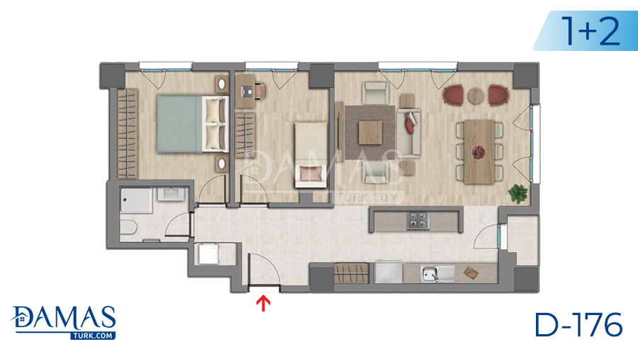 Damas Project D-176 in Istanbul - Floor plan picture  02