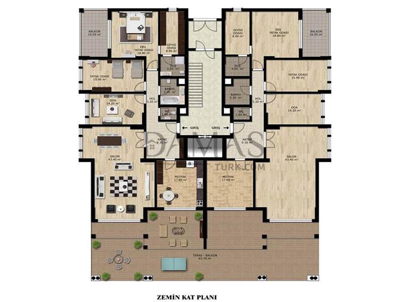 مجمع مجموعة داماس 202 في بورصة - صورة المخطط 02