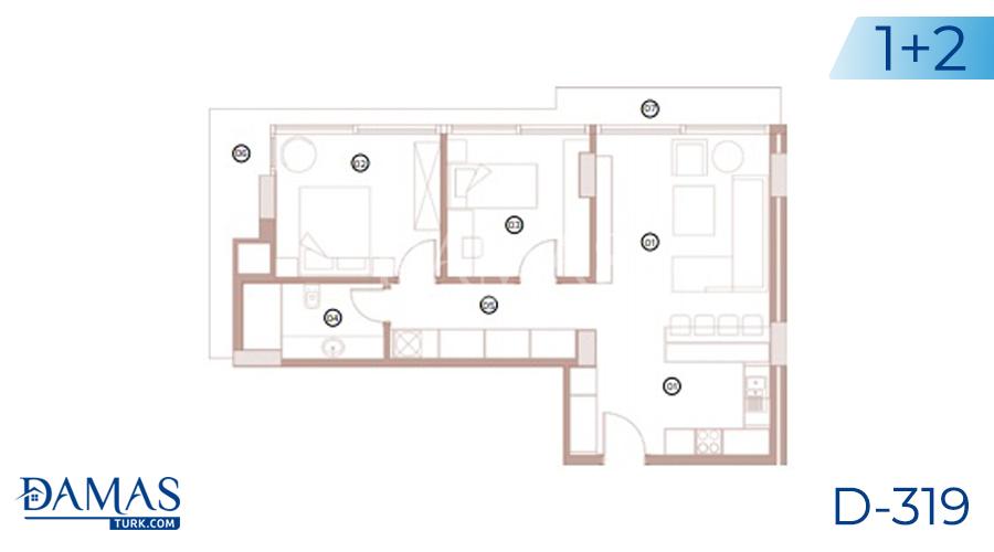 مجمع داماس 318 في بورصة - صورة مخطط 02