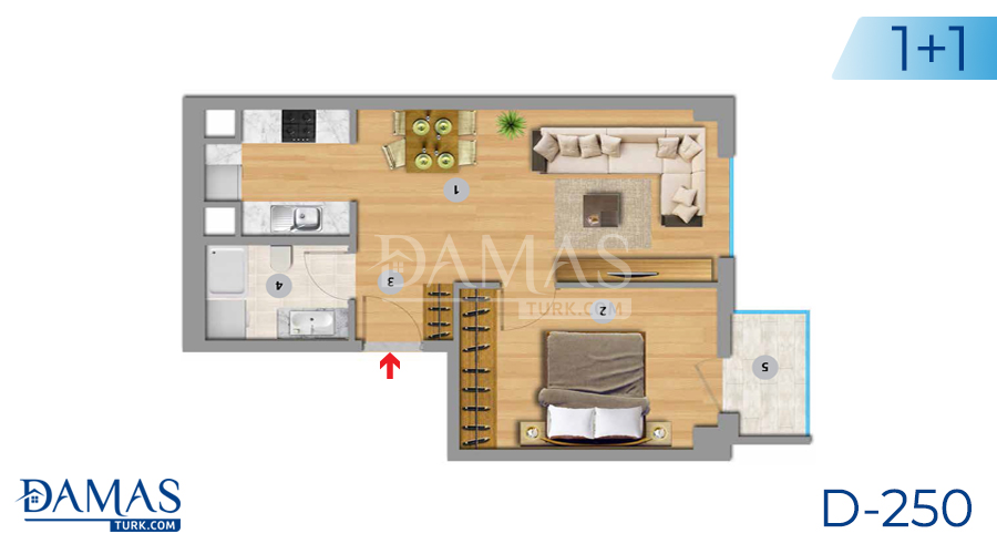 Damas Project D-250 in Istanbul - Floor plan picture 02