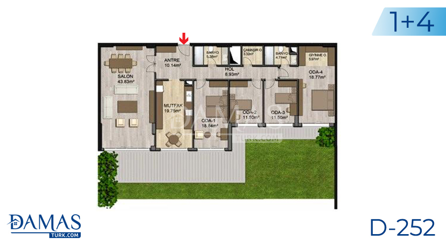 Damas Project D-252 in Istanbul - Floor plan picture 02