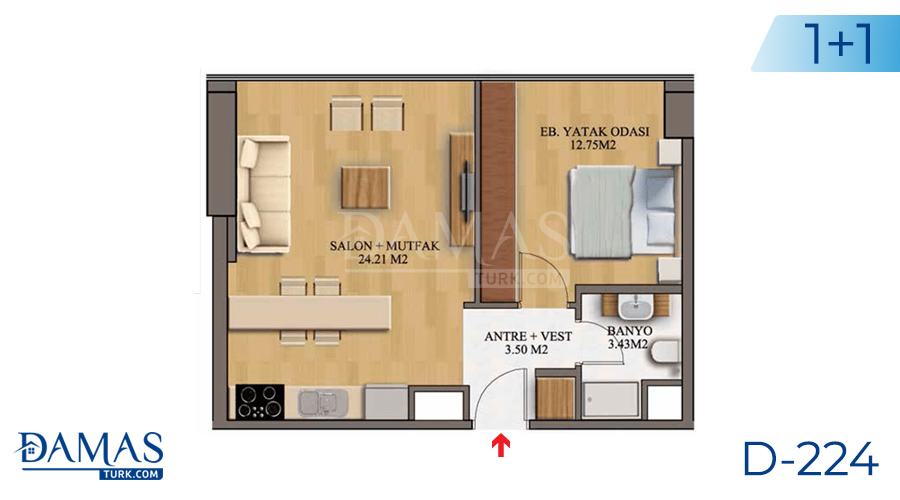 Damas Project D-224 in Istanbul - Floor plan picture  02