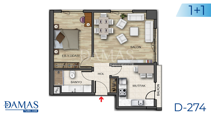 Damas Project D-274 in Istanbul - Floor plan picture 02
