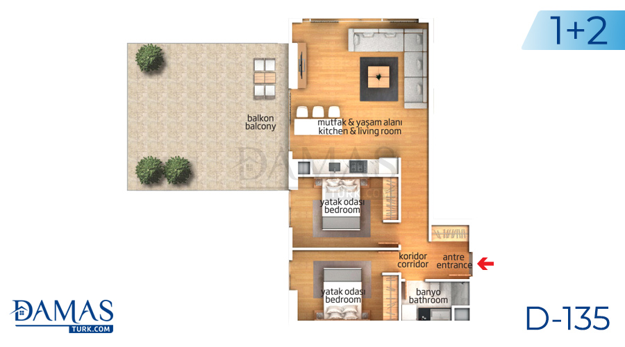 Damas Project D-135 in Istanbul - Floor plan picture 02