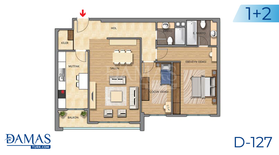 Damas Project D-127 in Istanbul - Floor plan picture 02