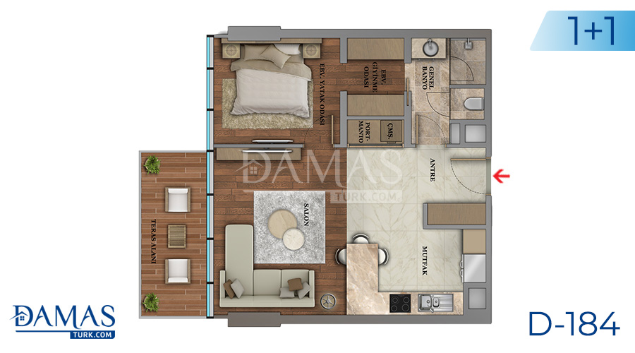 Damas Project D-184 in Istanbul - Floor plan picture  02