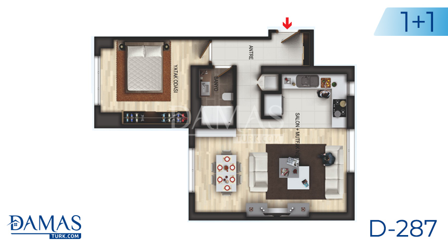 Damas Project D-287 in Istanbul - Floor plan picture 02