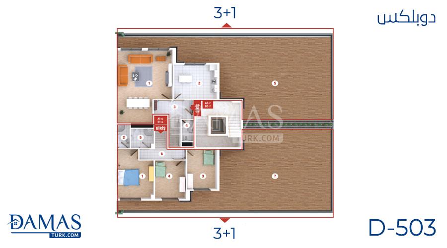 مجمع مجموعة داماس 503 في كوجلي - صورة مخطط 02