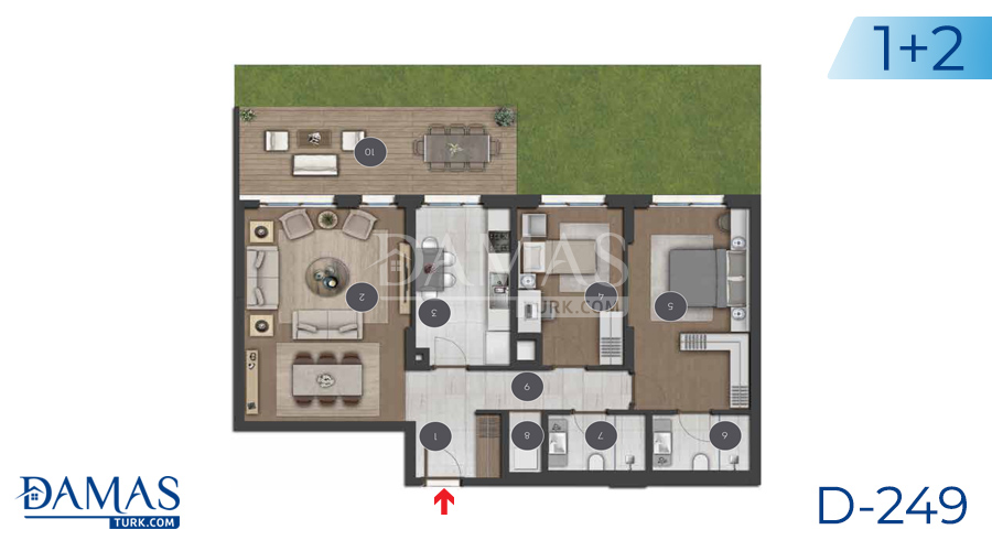 Damas Project D-249 in Istanbul - Floor plan picture 02