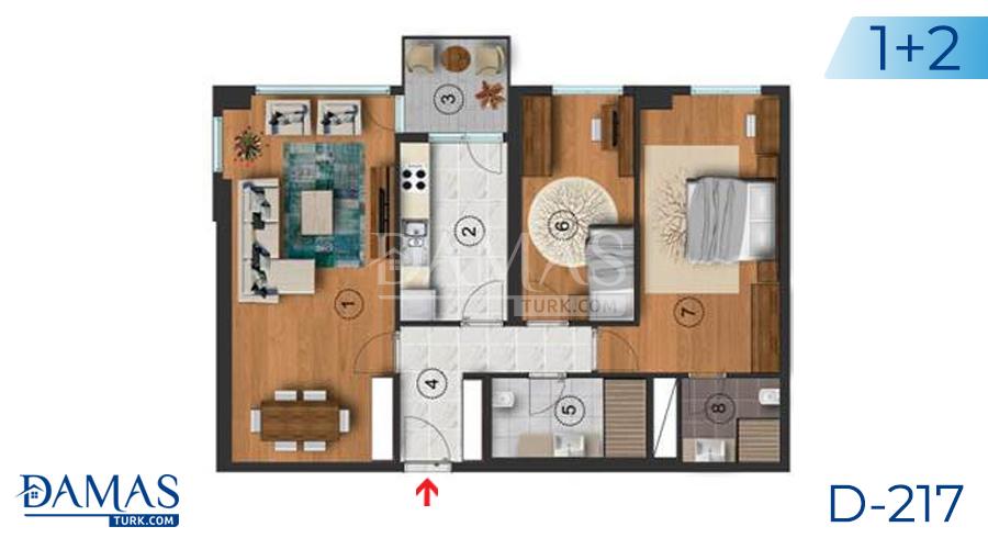 مجمع مجموعة داماس 217 في اسطنبول - صورة مخطط  02