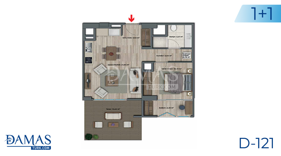 Damas Project D-121 in Istanbul - Floor plan picture 02
