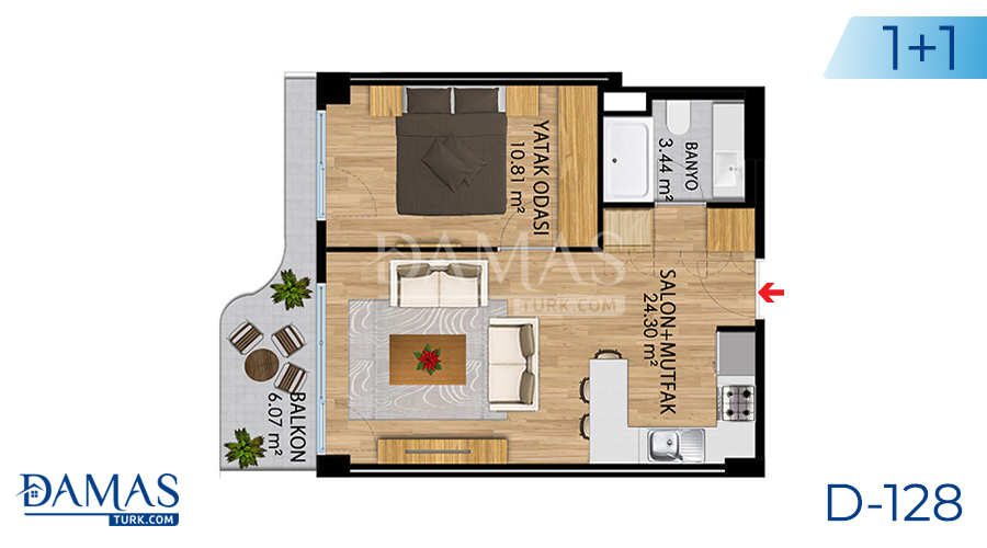 Damas Project D-128 in Istanbul - Floor plan picture 02
