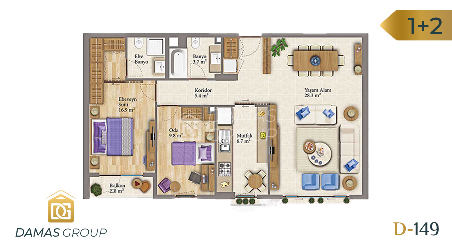 Damas Project D-149 in Istanbul - Floor Plan 02