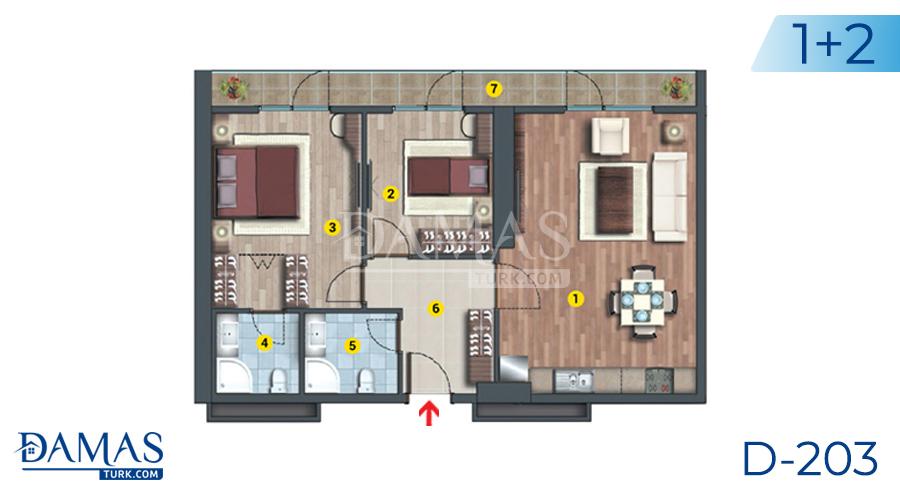 مجمع مجموعة داماس 203 في اسطنبول - صورة مخطط 02