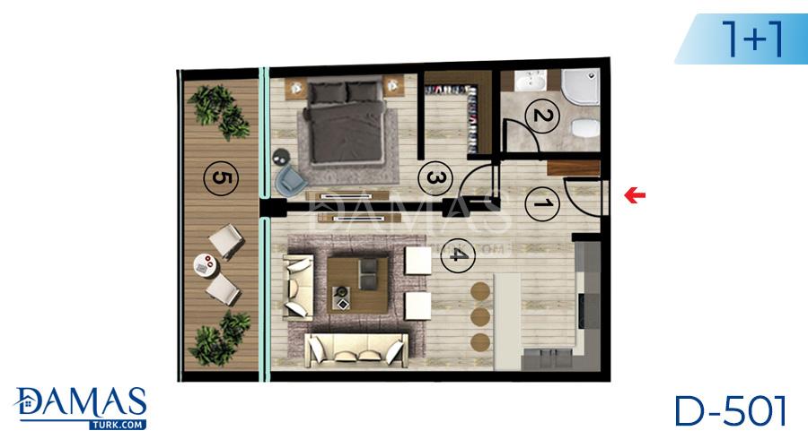 مجمع مجموعة داماس 501 في اسطنبول - صورة مخطط 02