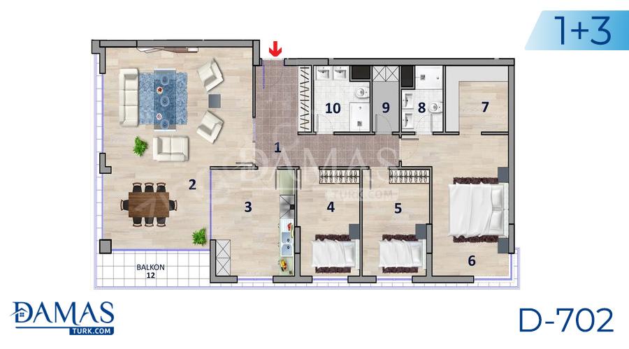 مجمع داماس 702 في أنقرة - صورة مخطط 02