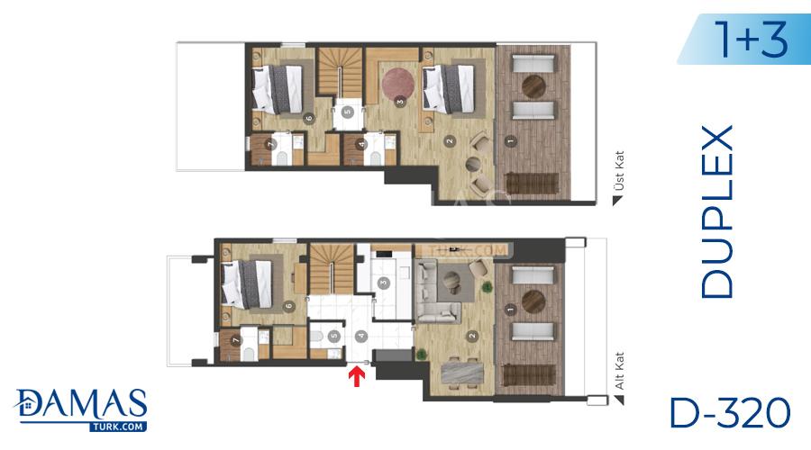 مجمع داماس 320 في بورصة - صورة مخطط 02