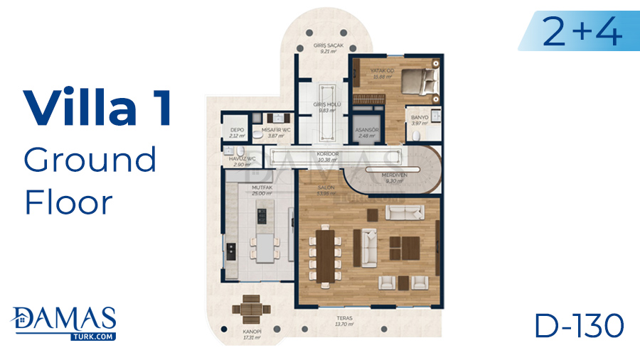 Damas Project D-130 in Istanbul - Floor plan picture 02