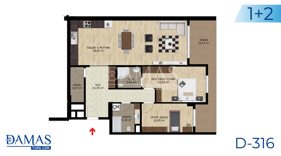 Damas Project D-316 in Bursa - Floor plan picture  02