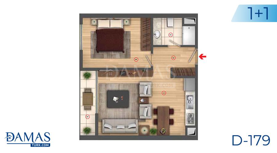 مجمع مجموعة داماس 179 في اسطنبول - صورة مخطط 02