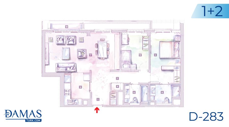مجمع داماس 283 في اسطنبول - صورة مخطط 02