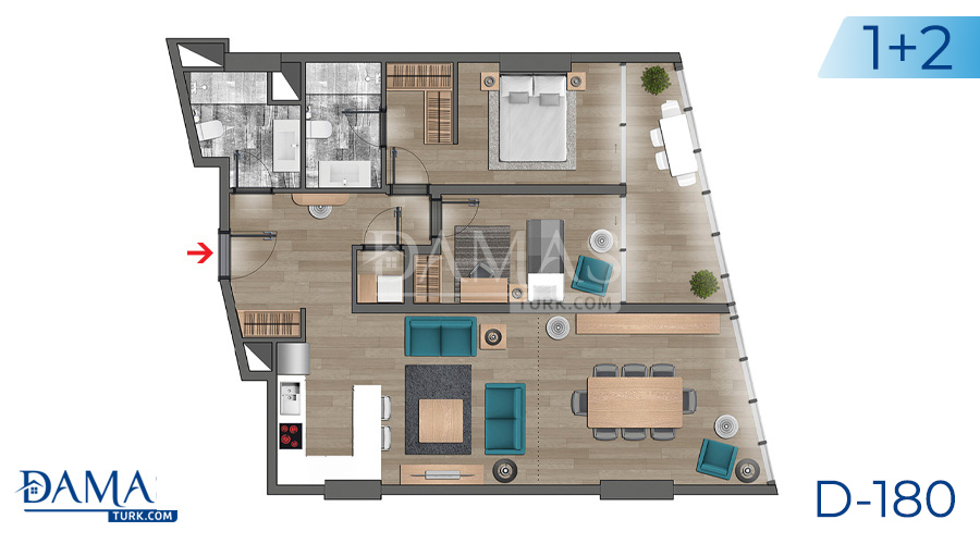 Damas Project D-180 in Istanbul - Floor plan picture  02