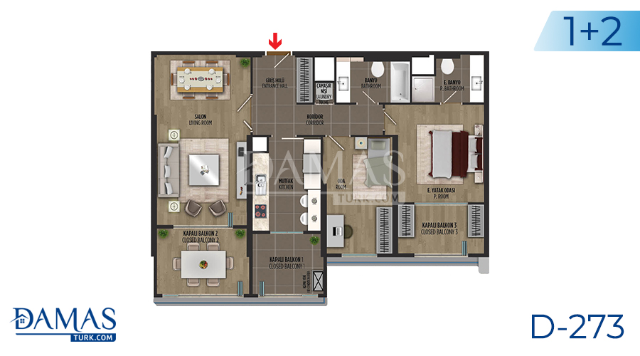 Damas Project D-273 in Istanbul - Floor plan picture 02