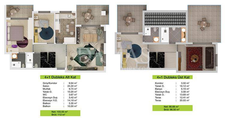مجمع مجموعة داماس 204 في بورصة - صورة المخطط 02