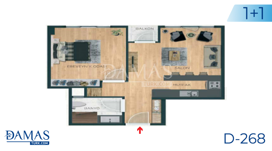 Damas Project D-268 in Istanbul - Floor plan picture 02