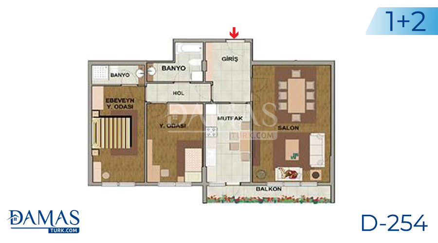 Damas Project D-254 in Istanbul - Floor plan picture 02