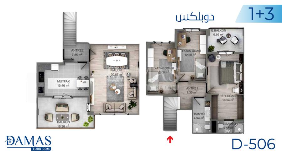 مجمع مجموعة داماس 506 في كوجالي - صورة مخطط 02